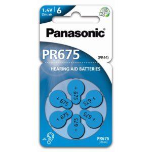 Panasonic cink-levegő elem, PR44 (6 db / bliszter)